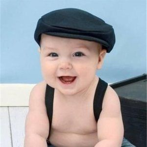 Raid-R Black Baby Newsboy Hat